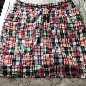 Brooks brothers madras skirt